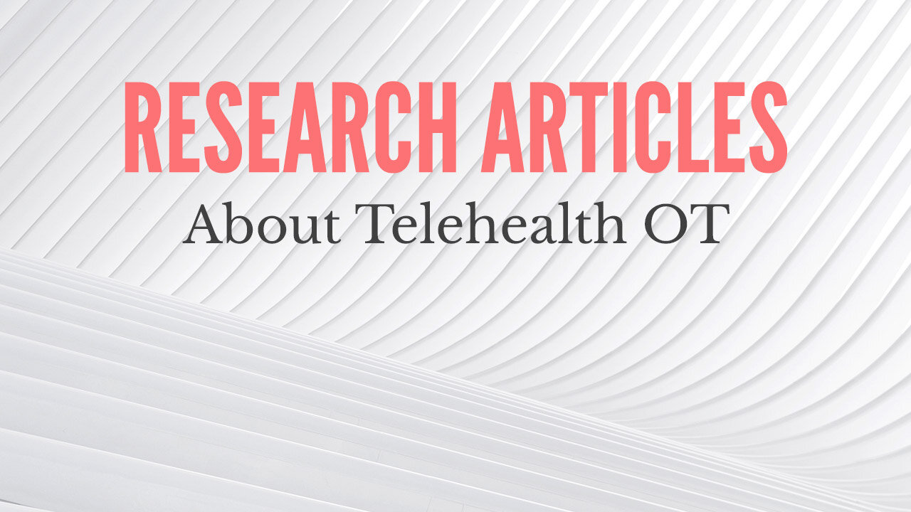 Research Articles about Telehealth OT