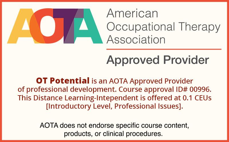 AOTA Approved Provider Badge