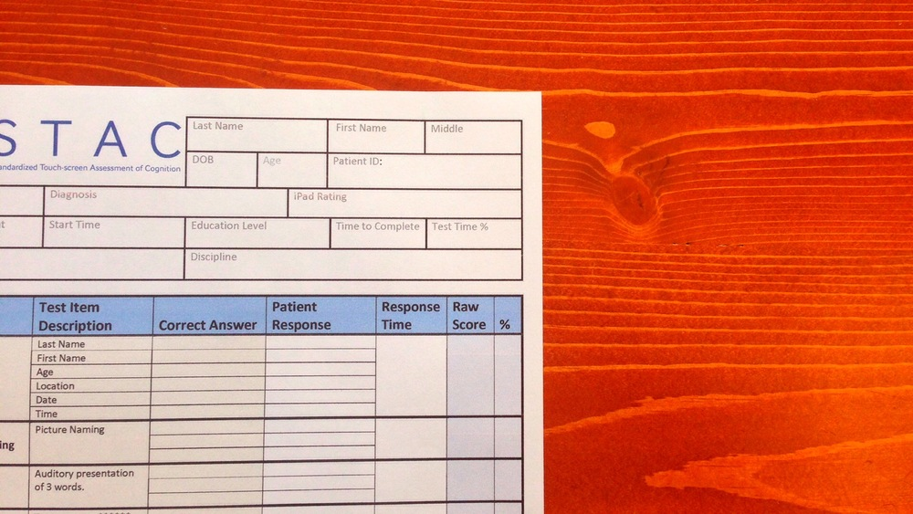 cognition assessment form
